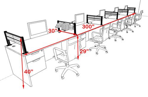 Five Person Modern Aluminum Organizer Divider Office Workstation, #OT-SUL-SPW35