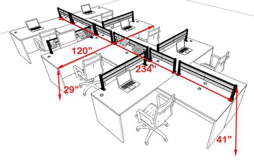 Six Person Modern Aluminum Organizer Divider Office Workstation, #OT-SUL-SPW52