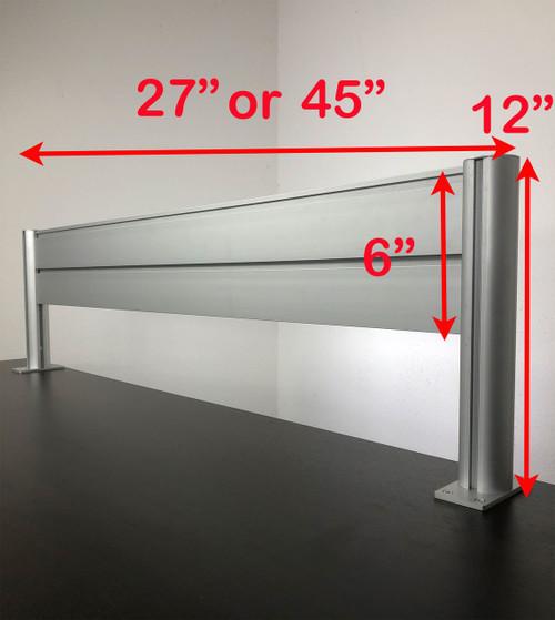 "Office Desk 27"" x 12"" Aluminum Organzier / Divider Panel Slatwall, #OT-SUL-HANG2"