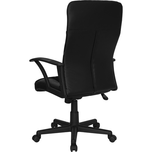 High Back Black Leather / Mesh Combination Executive Swivel Office Chair , #FF-0185-14