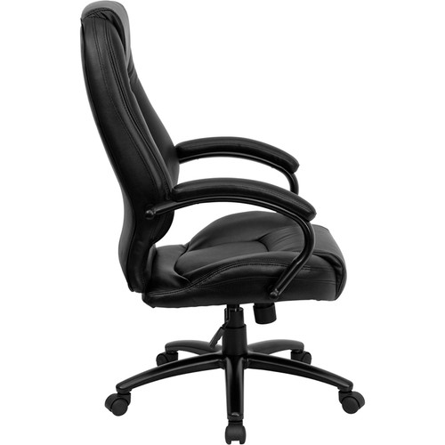 High Back Black Leather Executive Office Chair , #FF-0197-14