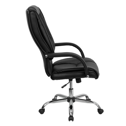 High Back Black Leather Executive Office Chair , #FF-0217-14