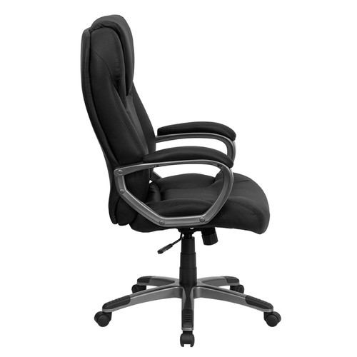 High Back Black Leather Executive Office Chair , #FF-0218-14