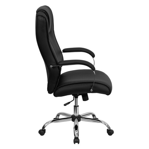 High Back Black Leather Executive Office Chair , #FF-0219-14