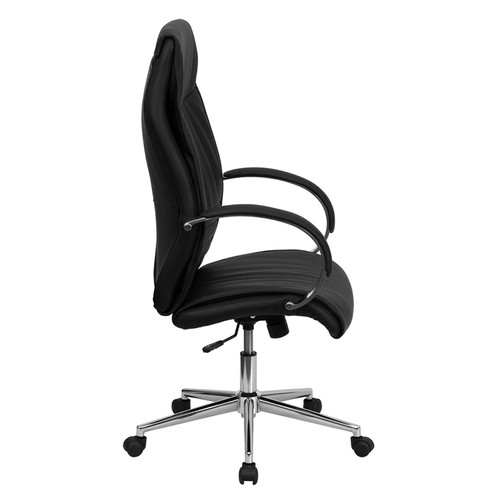 High Back Black Leather Executive Office Chair , #FF-0221-14