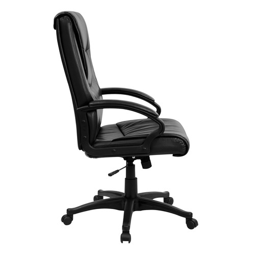 High Back Black Leather Executive Swivel Office Chair , #FF-0222-14