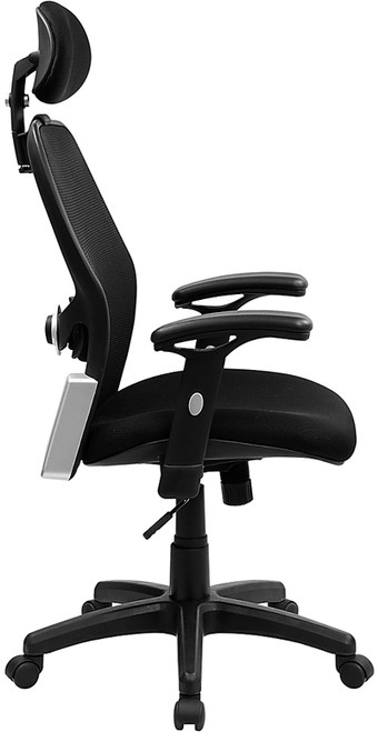 High Back Super Mesh Office Chair with Black Fabric Seat , #FF-0024-14