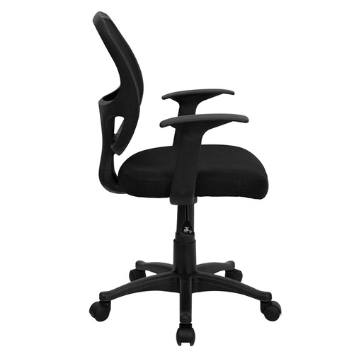 Mid-Back Black Mesh Computer Chair , #FF-0010-14