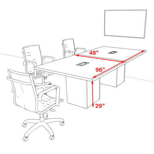 Rectangular 8' Feet Zoom Duo Facetime Video Conference Table, #OF-CON-CSP15