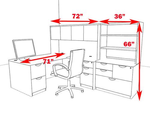 7pc L Shape Modern Executive Office Desk, #OT-SUL-L52