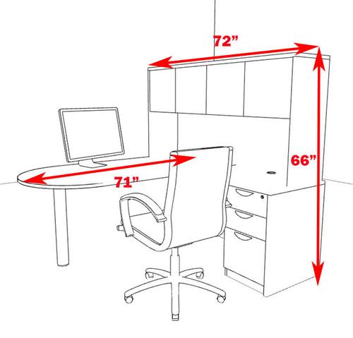 4pc L Shape Modern Executive Office Desk, #OT-SUL-L54