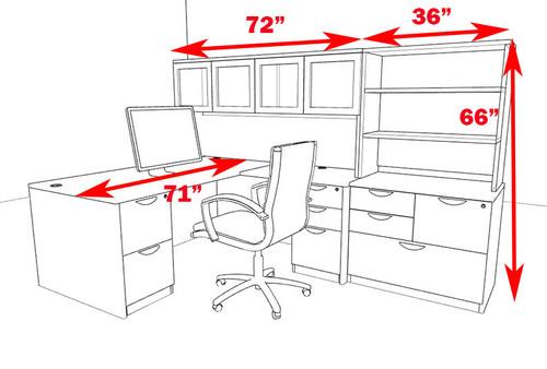 7pc L Shape Modern Executive Office Desk, #OT-SUL-L57