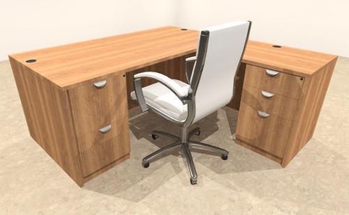 4pc L Shape Modern Executive Office Desk, #OT-SUL-L5