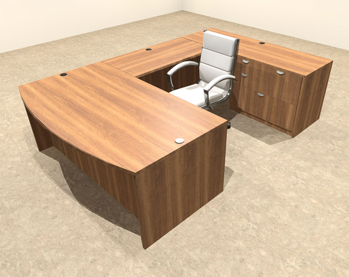 4pc U Shape Modern Executive Office Desk, #OT-SUL-U5