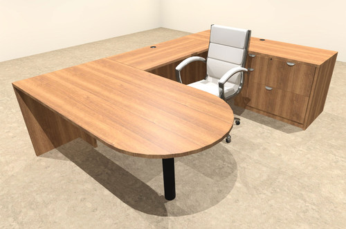 4pc U Shape Modern Executive Office Desk, #OT-SUL-U9