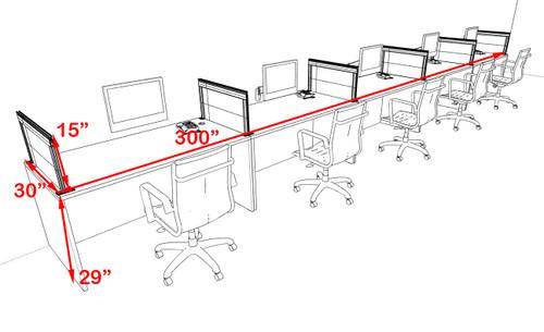 Five Person Modern Aluminum Organizer Divider Office Workstation Desk Set, #OT-SUL-SPS68