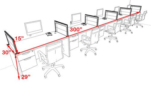 Five Person Modern Aluminum Organizer Divider Office Workstation Desk Set, #OT-SUL-SPS73