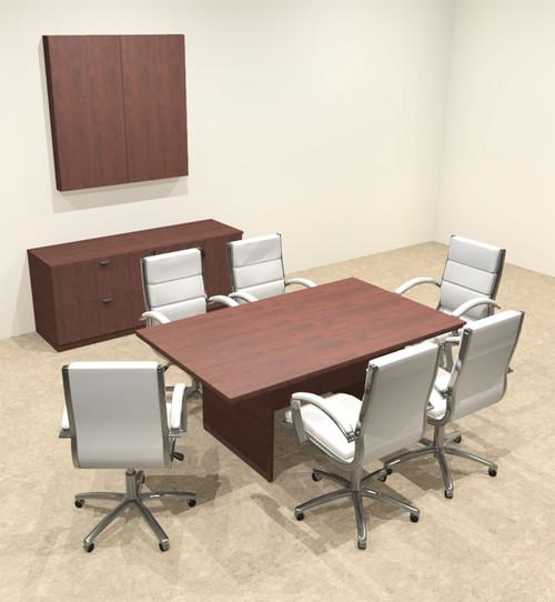 Modern Rectangular 6' Conference table, #OT-SUL-C17