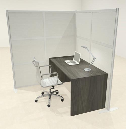 One L Shaped Loft Modern Office Home Aluminum Frame Partition / Divider / Sneeze Guard, #UT-ALU-P44