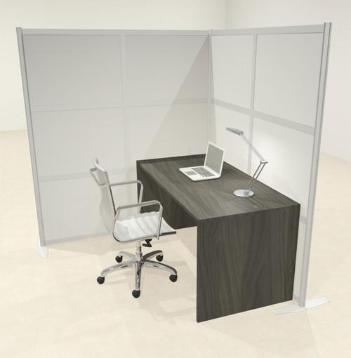 One L Shaped Loft Modern Office Home Aluminum Frame Partition / Divider / Sneeze Guard, #UT-ALU-P45