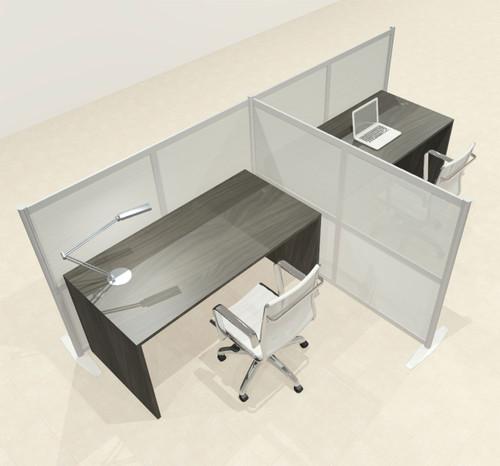 One T Shaped Loft Modern Office Home Aluminum Frame Partition / Divider / Sneeze Guard, #UT-ALU-P49-B