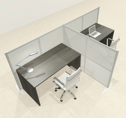 One T Shaped Loft Modern Office Home Aluminum Frame Partition / Divider / Sneeze Guard, #UT-ALU-P49-C