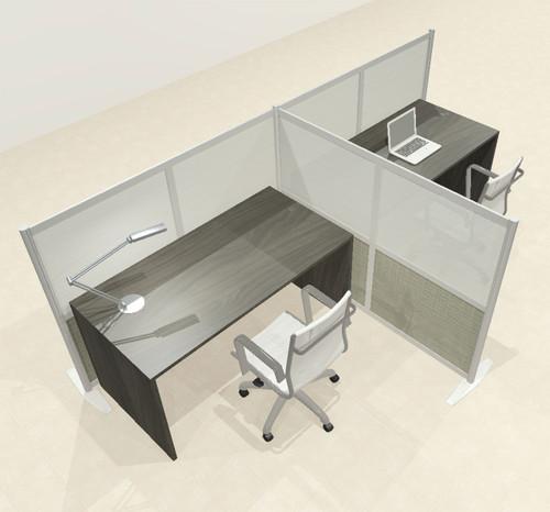 One T Shaped Loft Modern Office Home Aluminum Frame Partition / Divider / Sneeze Guard, #UT-ALU-P50-B
