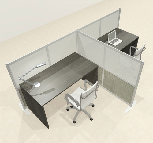 One T Shaped Loft Modern Office Home Aluminum Frame Partition / Divider / Sneeze Guard, #UT-ALU-P50-C