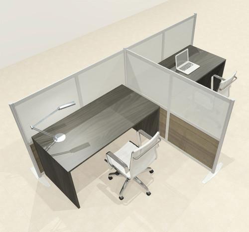 One T Shaped Loft Modern Office Home Aluminum Frame Partition / Divider / Sneeze Guard, #UT-ALU-P51-B