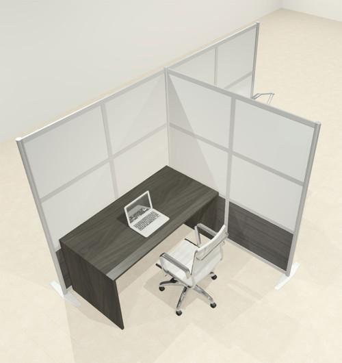 One T Shaped Loft Modern Office Home Aluminum Frame Partition / Divider / Sneeze Guard, #UT-ALU-P67-C