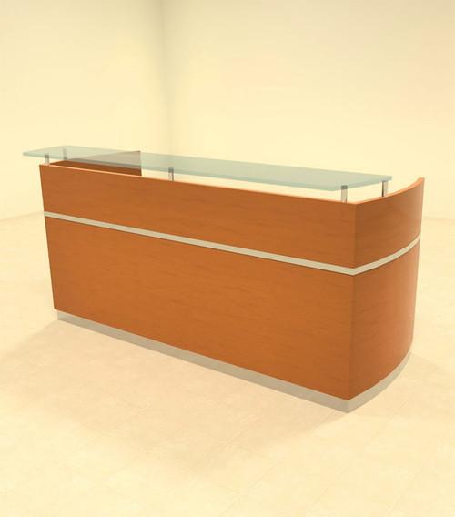 2pc Modern Contemporary Glass Counter Reception Desk Set, #RO-NAP-R1