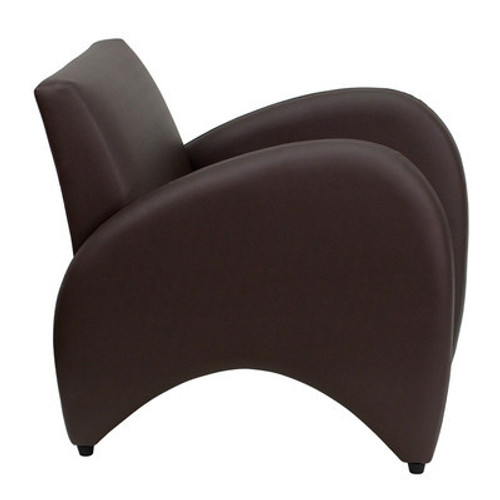 1pc Modern Leather Office Home Reception Guest Chair, FF-0486-12