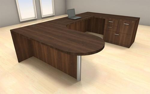 4pc U Shape Modern Executive Office Desk Set, #CH-AMB-U1