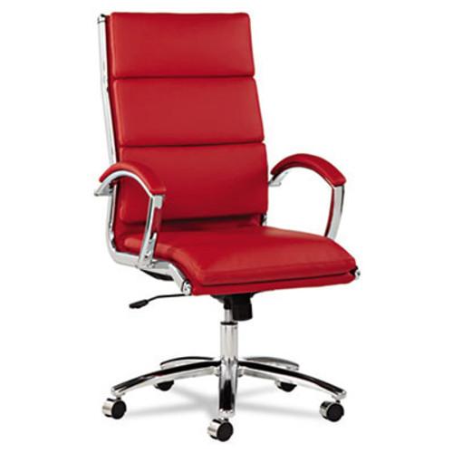Hi Back Modern Leather Swivel/Tilt Office Chair, #AL-NR4139