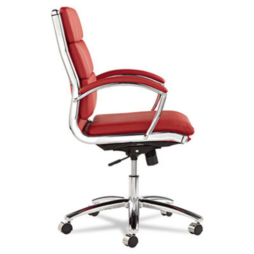 Mid Back Modern Leather Swivel/Tilt Office Chair, #AL-NR4239
