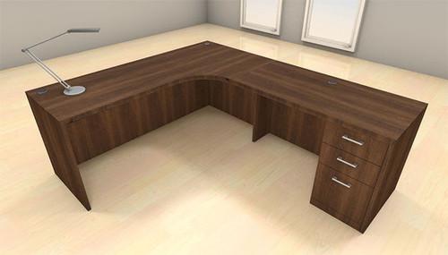 3pc L Shape Modern Executive Office Desk Set, #CH-AMB-L1