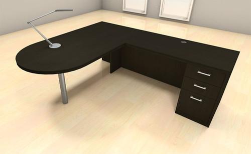 3pc L Shape Modern Executive Office Desk Set, #CH-AMB-L18