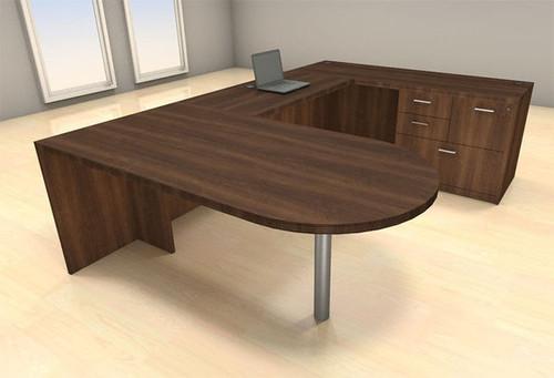 4pc U Shape Modern Executive Office Desk Set, #CH-AMB-U31