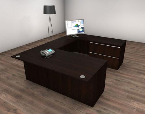 4pc U Shape Modern Executive Office Desk Set, #CH-VER-U24