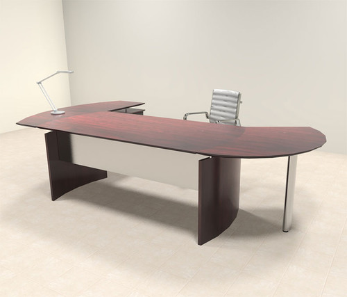 3pc Modern Contemporary Oval Executive Office Desk Set, #MT-MED-O2