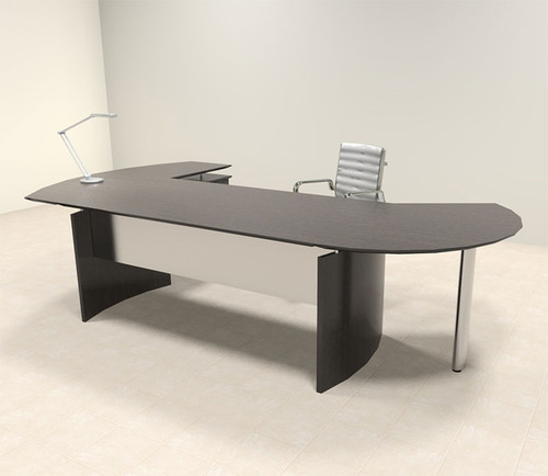 3pc Modern Contemporary Oval Executive Office Desk Set, #MT-MED-O3