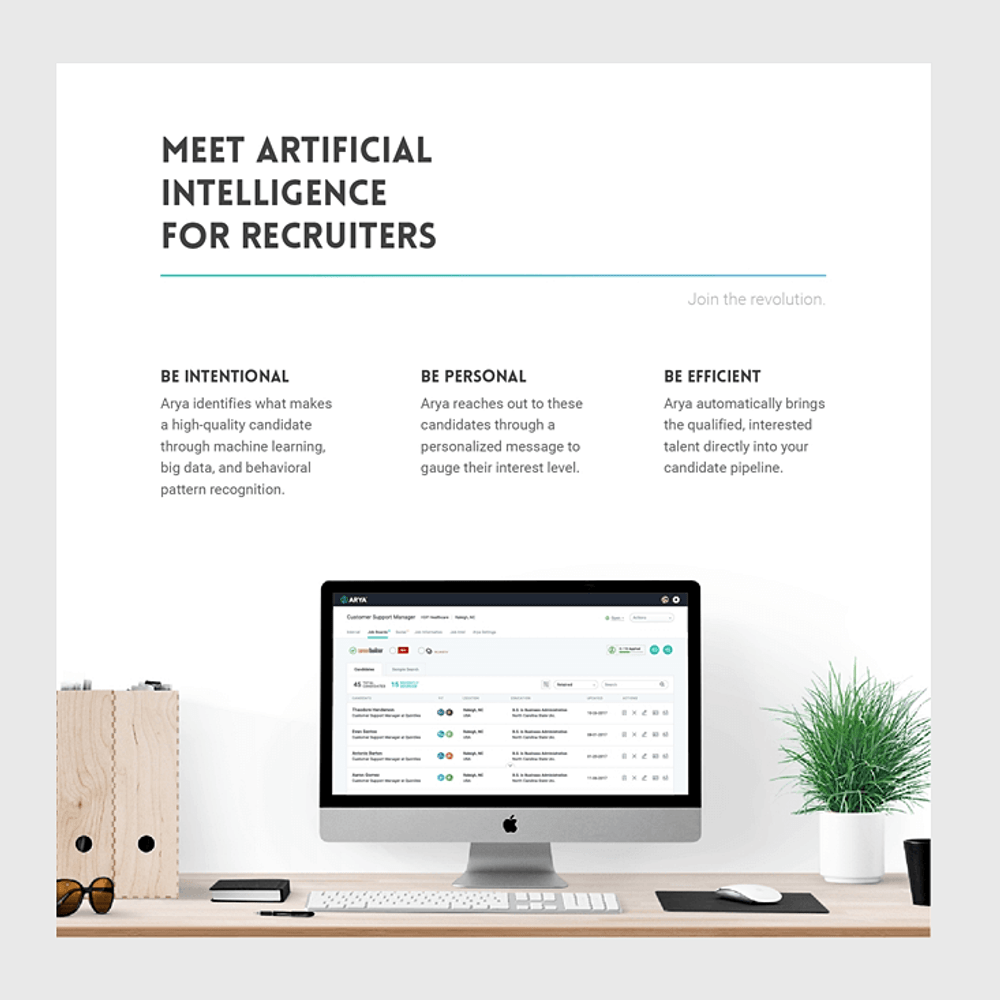 Thumbnail image for AI Automated Arya Recruiting Software