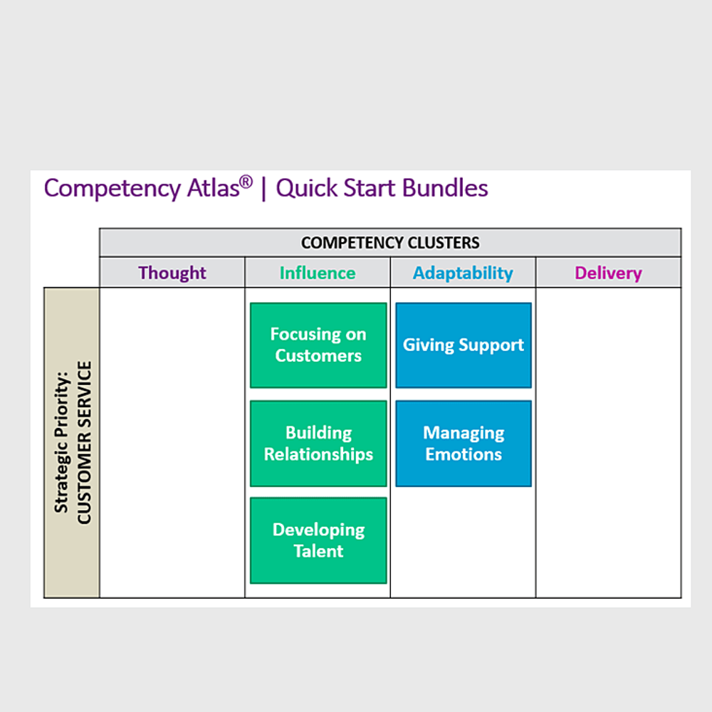 Primary thumbnail image for video Competency Atlas Quick Start Bundle -- Customer Service https://videos.sproutvideo.com/embed/4c9adeb71e1fe9c8c4/ec63a440f5dc4c63