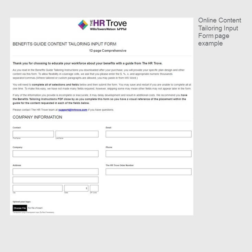 Thumbnail image for Online Content Input Form page 1