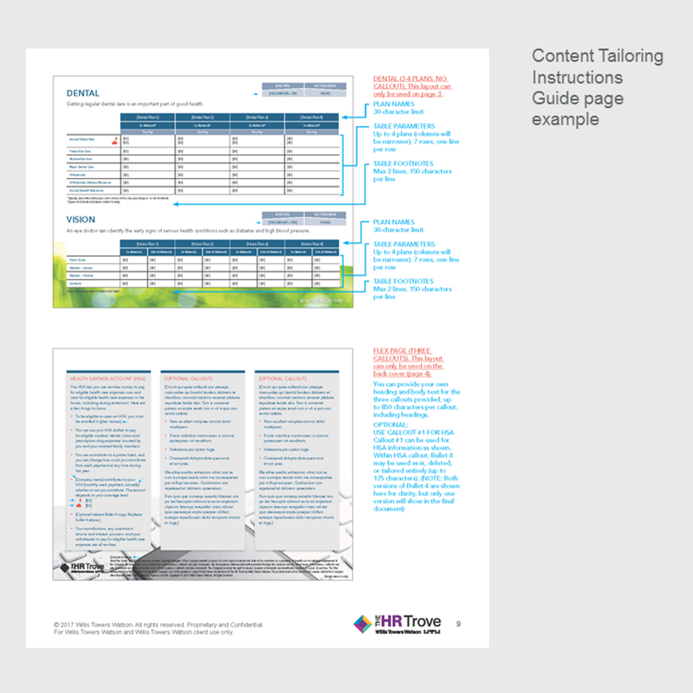 Thumbnail image for Benefits Enrollment Guide (4-page) Content Tailoring Guide Outdoor Vibrant pg 9