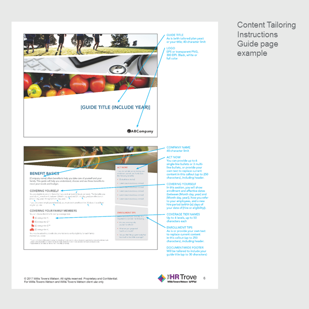 Thumbnail image for Benefits Enrollment Guide (8-page) Content Tailoring Guide Outdoor Vibrant pg 3