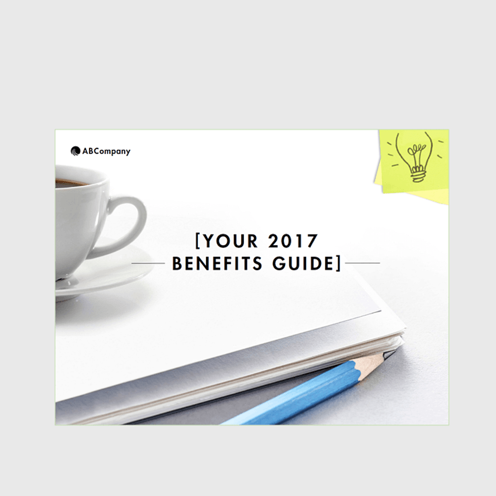 Primary thumbnail image for Benefits Enrollment Poster (Bright Ideas Design)