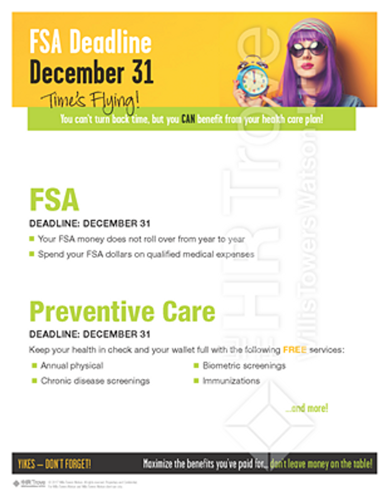 Thumbnail image for FSA Deadline Reminder Poster (no HSA Bright design) Watermarked