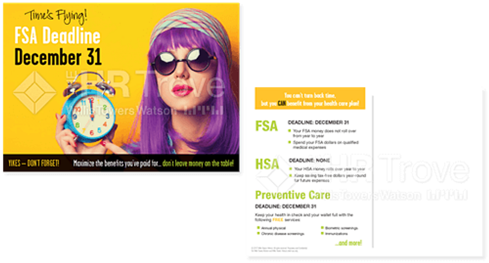 Thumbnail image for  FSA Deadline Reminder Postcard (with HSA Bright design) Watermarked