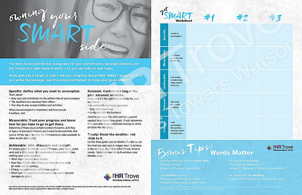 Owning Your SMART Side Video for SMART Goals at Work Companion Handout watermarked image